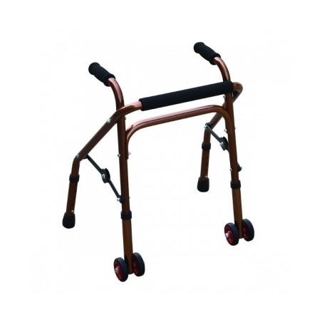 Cadru de mers pliabil cu roti pentru copii reglabil 52-63 cm RX466