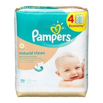 PAMPERS Servetele Natural Clean 256 buc