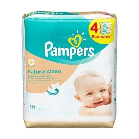 PAMPERS Servetele Natural Clean 256 buc