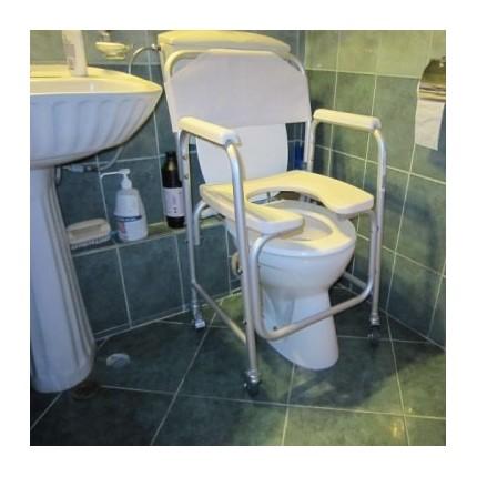 Scaun pentru WC si dus cu rotile 2 in 1 RX299