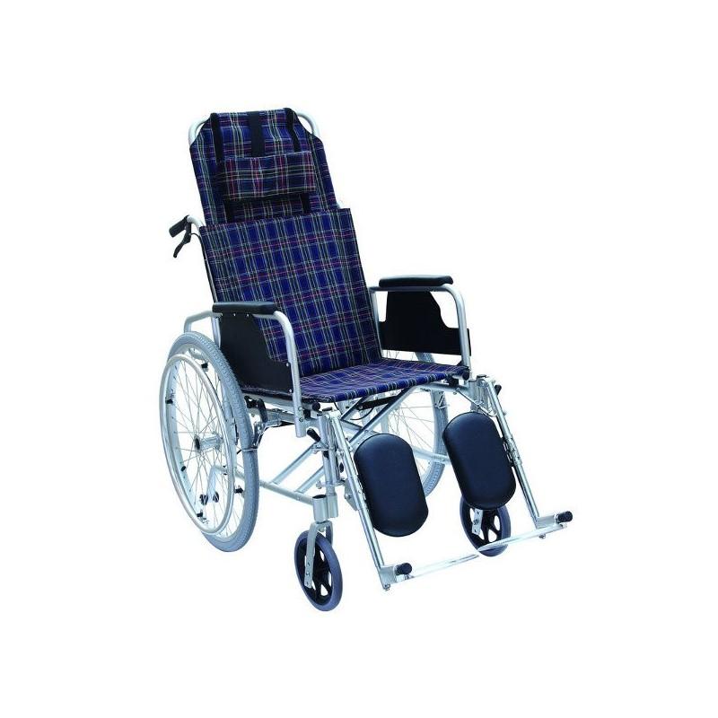 Scaun cu rotile cu spatar si suport picioare reglabil RX954
