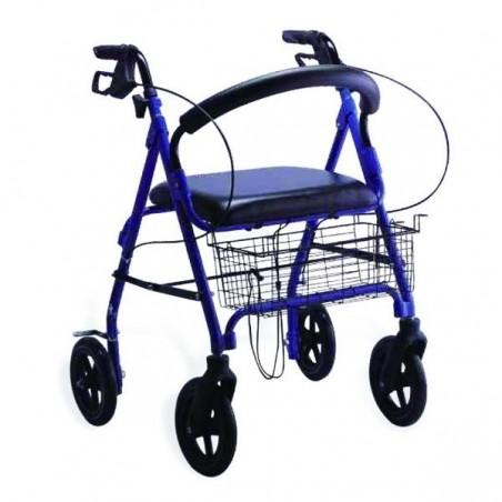 Cadru de mers ortopedic Rolator cu 4 roti si bancheta RX146