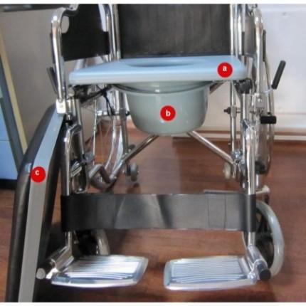 Scaun cu rotile si WC mobil RX283