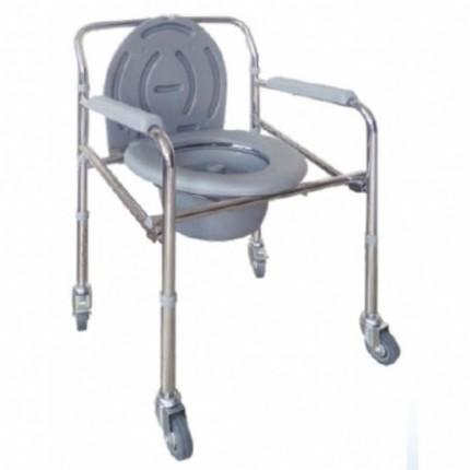 Scaun de toaleta WC cu rotile pliabil RX296
