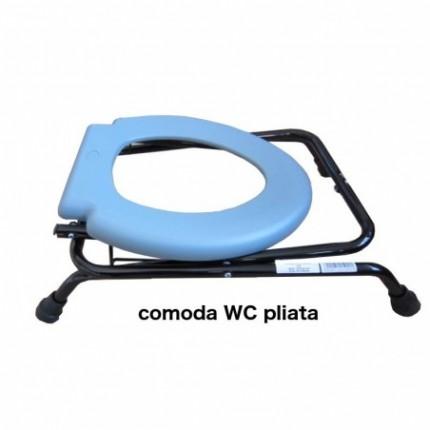 Scaun cu oala de noapte tip comoda WC pliabil RX297