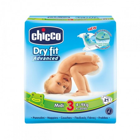 Chicco Scutece Dry Fit Midi Nr 3 (4-9 kg) 21 buc