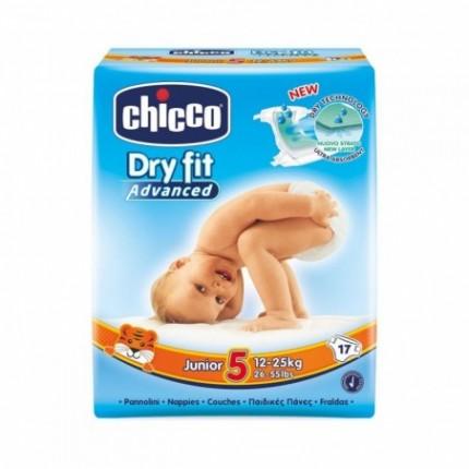 Chicco Scutece Dry Fit Junior Nr 5 (12-25 kg) 17 buc