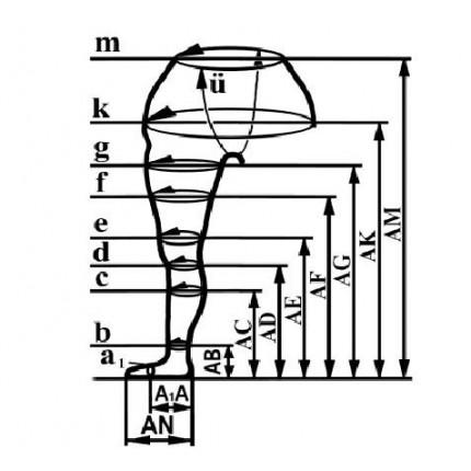 Ciorapi compresivi antivarice Elastobar AM gradul 3 de compresie 34-48 mmHg