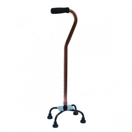 Baston ortopedic cu 4 picioare si baza redusa reglabil RX934