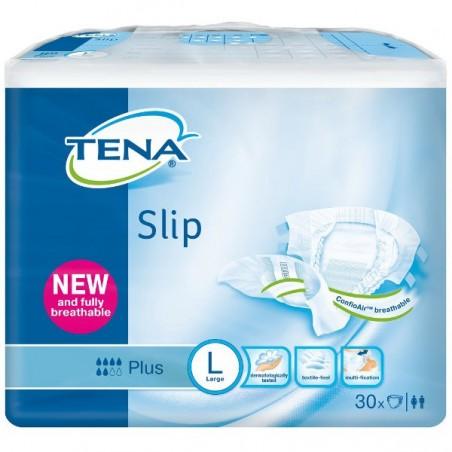 Scutece clasice Tena Slip Plus ConfioAir Large Nr 3 30 buc