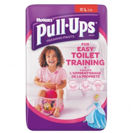 Scutece chiloti pentru antrenament la olita fetite Huggies Pull Ups L