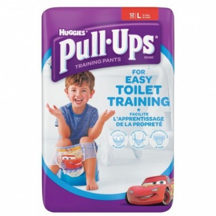 Scutece chiloti pentru antrenament la olita baieti Huggies Pull Ups L