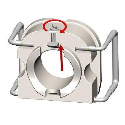 Inaltator wc cu inaltime fixa 13 cm cu manere Moretti MRP420