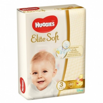 Scutece Huggies Elite Soft Nr 3 (80 buc) 5-9 kg