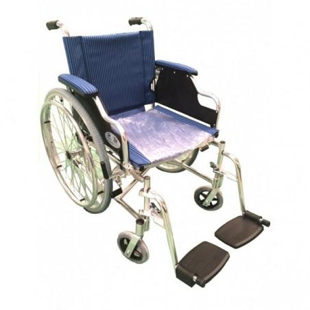 Fotoliu rulant din aluminiu cu suporti mobili RX819