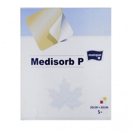 Pansament cu hidrogel, spuma si poliuretan Medisorb P 20x20 cm 5 buc