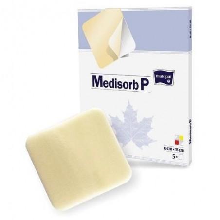 Pansament cu hidrogel, spuma si poliuretan Medisorb P 15x15 cm 5 buc