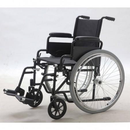 Carucior transport pacienti antrenare manuala YJ-005L roti pneumatice