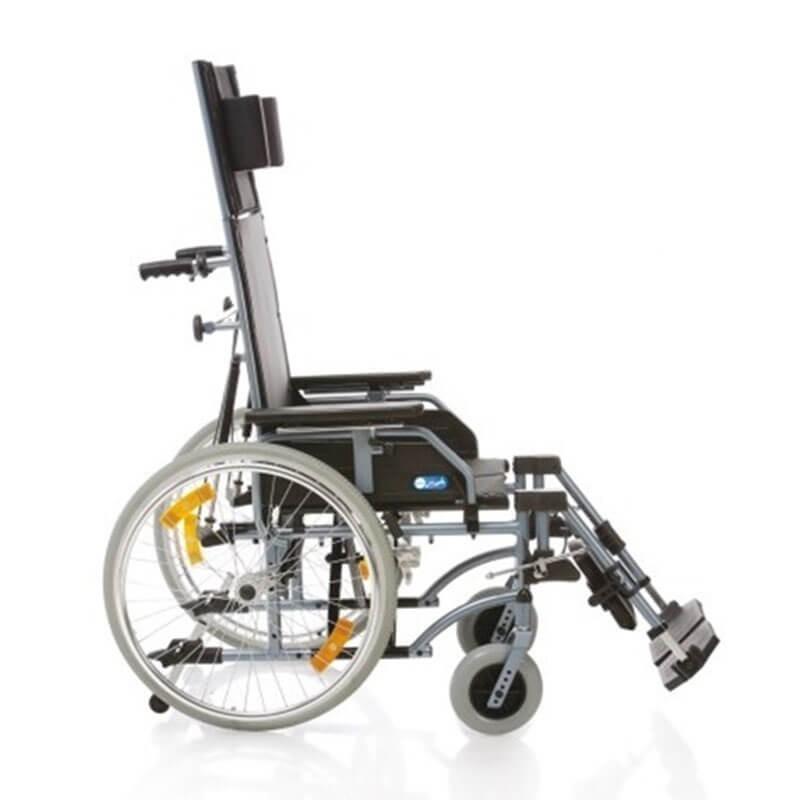 Carucior cu rotile pliabil cu structura din aluminiu vopsit CP810