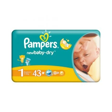 Scutece Pampers New Baby Nou nascuti Nr 1 43buc