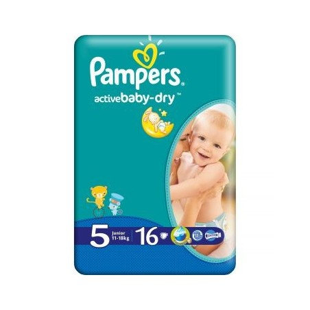 Active Baby Junior Pampers Nr 5 16buc