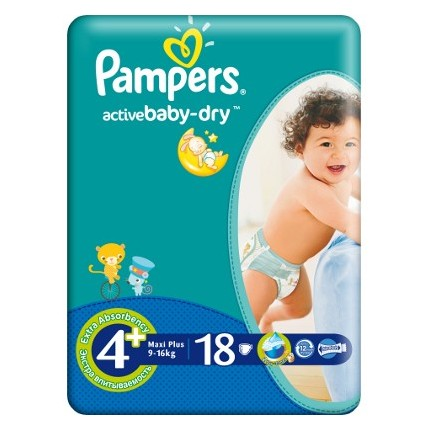 Active Baby Maxi Plus Pampers Nr 4+ 18buc