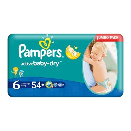 Scutece Pampers Activ Baby Nr 6 Extra Large 54buc
