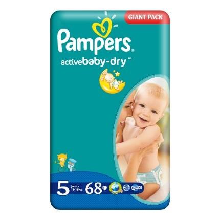 Scutece Pampers Active Baby Junior Nr 5 68buc
