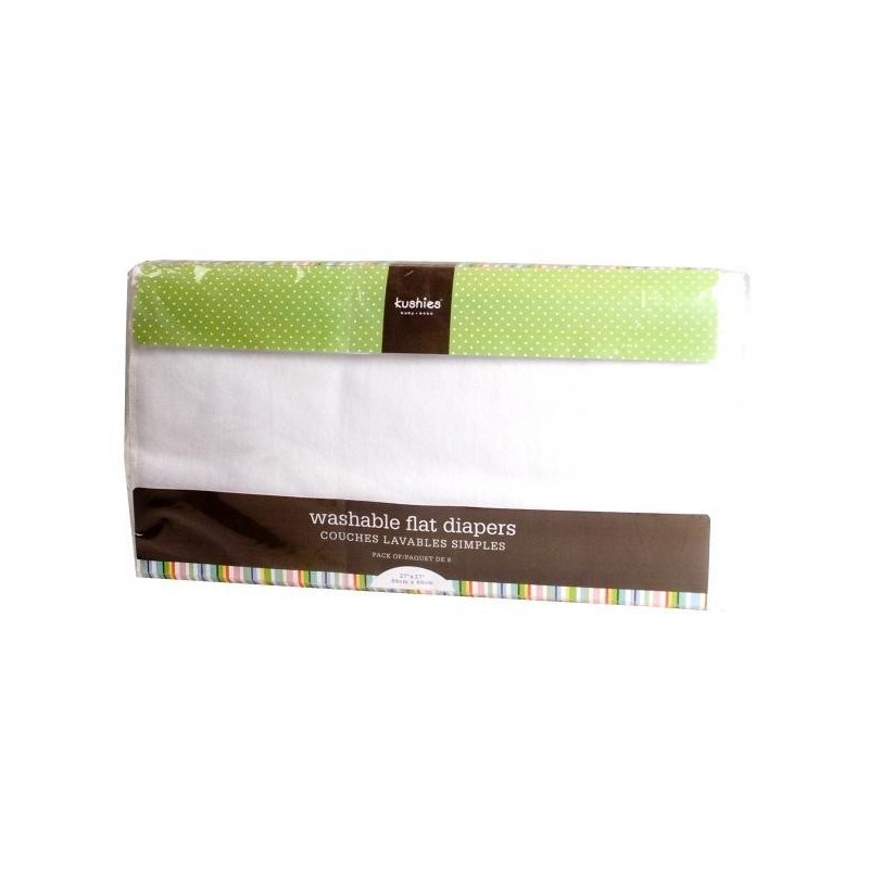 Scutece de bumbac reutilizabile 6 buc Kushies 69x69 cm