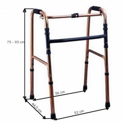 Cadru pentru mers pliabil si reglabil 75-93 cm RX491