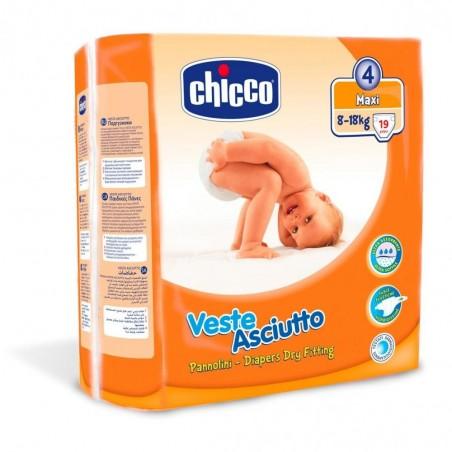 Scutece unica folosinta Nr 4 Maxi 8-18 kg 19 buc Chicco