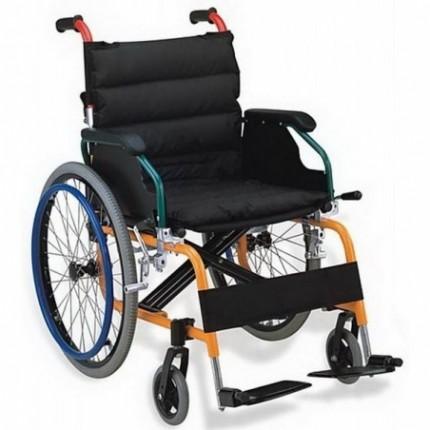 Scaun cu rotile pliabil cu structura din aluminiu RX980