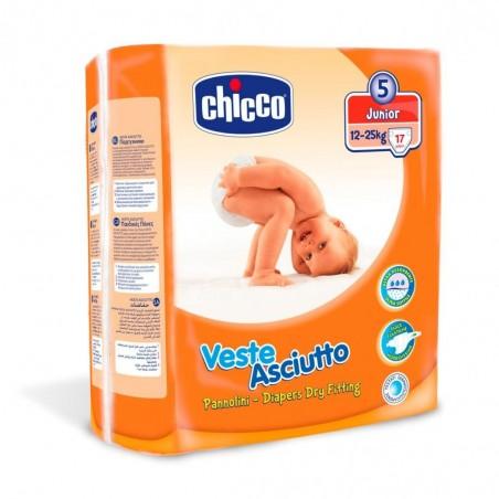 CHICCO Scutece copii Junior Nr.5 (12-25kg) 17buc
