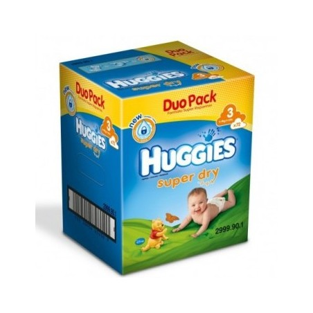 Huggies SuperDry Nr 3 (4-9kg) 72buc