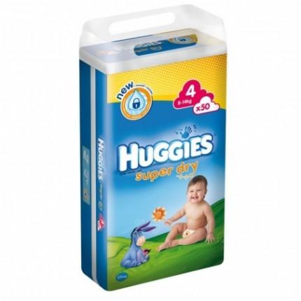 Huggies Super Dry Nr 4 (7-14kg) 50buc
