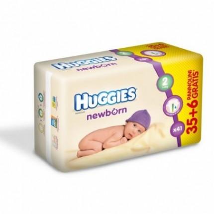 Scutece copii Huggies Nou nascuti Nr 2 cu indicator de umiditate