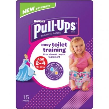 Scutec tip chilotei pentru antrenament la olita fetite Huggies Pull Ups...