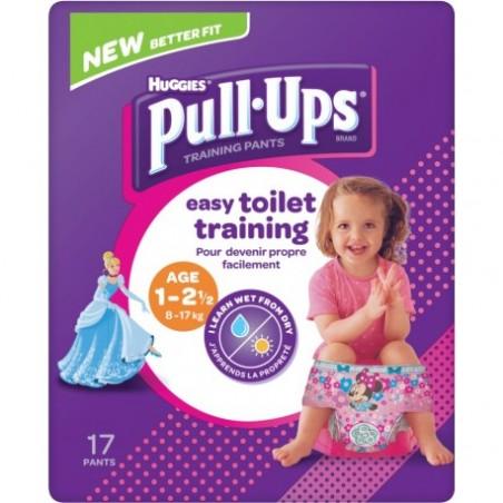 Chilotei pentru antrenament la olita fetite Huggies Pull Ups (8-17 Kg)-...