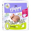 Scutece Happy bebelusi prematuri 46 buc Nr 0