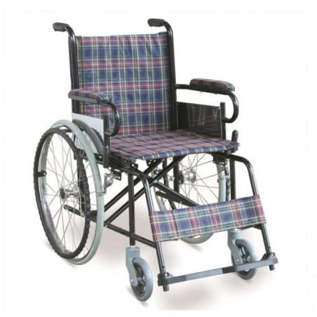 Scaun cu rotile pliabil roti spate cu pneuri pline TF868